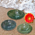 Moss Agate Gemstone Bowls