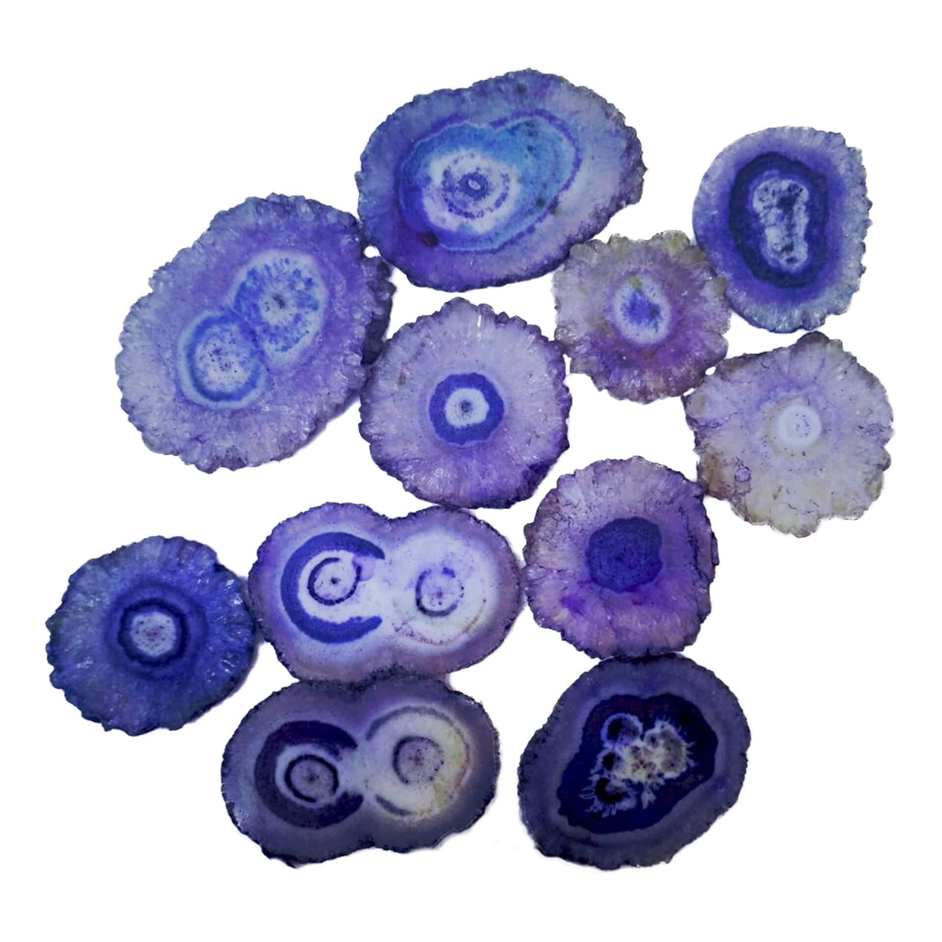 Wholesale Natural Polished Agate Stone Purple Agate Slices