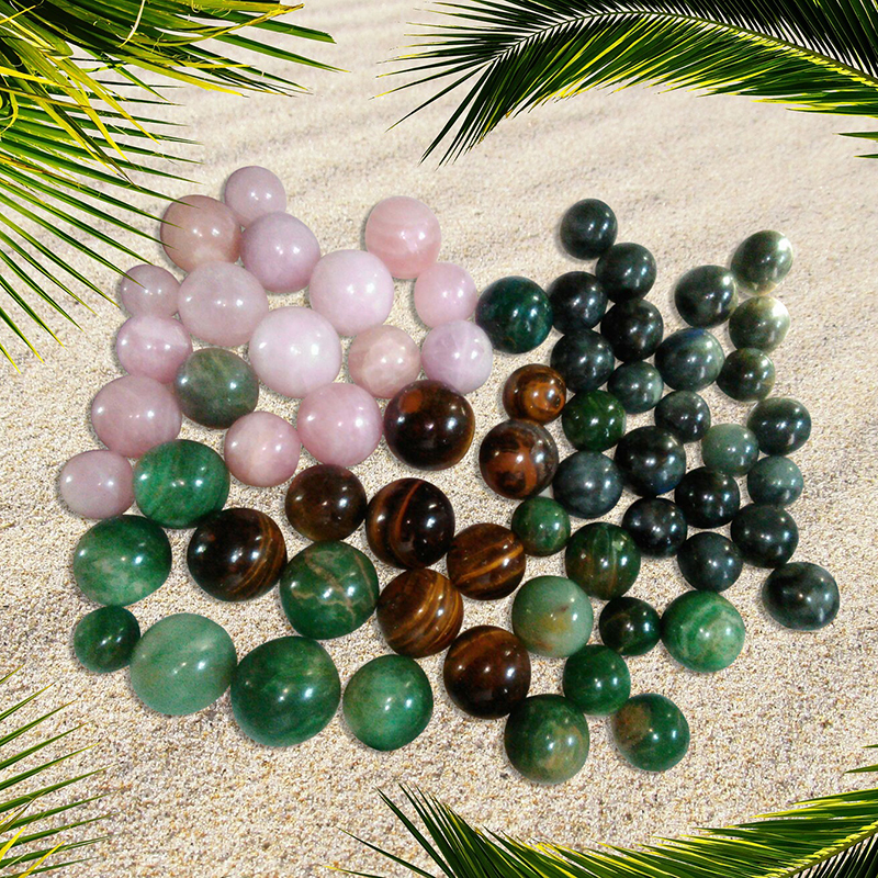 Rose Quartz And Other Gemstone Balls