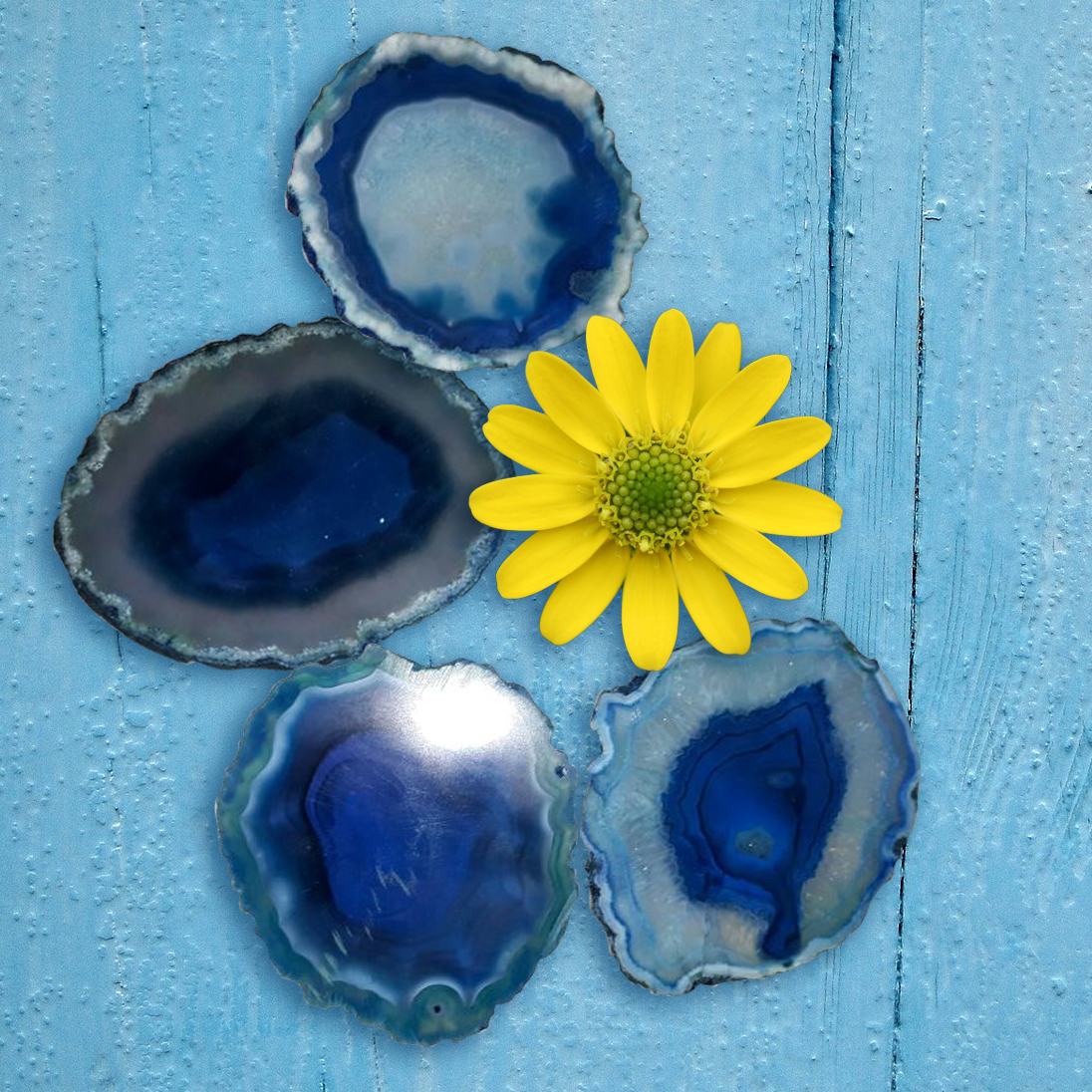 Blue Sliced Agate