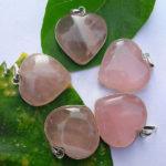 Rose Quartz Heart Pendants