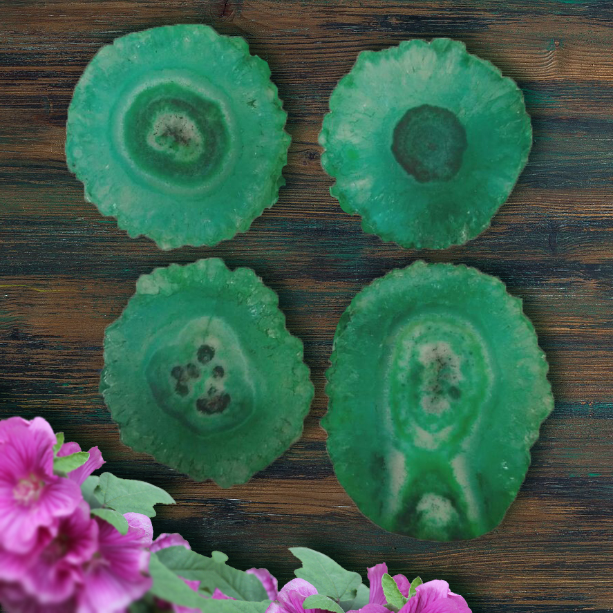 Green Agate Slice